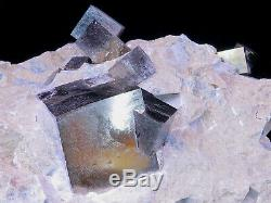 Large piece of Cubic Pyrite Crystal on matrix Spain 14 X 12 X 11cm 2103gr
