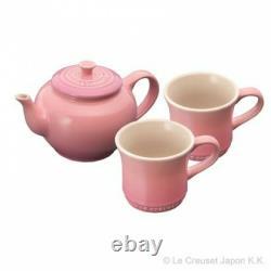 Le Creuset Teapot & Mug (SS) (2 Pieces) Set Rose Quartz