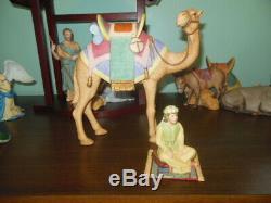 Lenox Renaissance Nativity Set 21 Pieces Standing Camel, Creche, Crystal Star