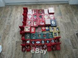 Lot Collection Set Of 54 Pieces Ornament Ball Bell Christmas Waterford Crystal