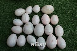 Lot of 20 pieces! Mangano calcite eggs -crystal polished peru