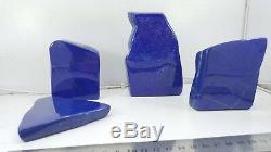 Maximum Blue Top quality Grade A 4 Pieces Lapis Lazuli preformed Crystals 1360gm