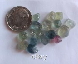 Montana Sapphire Rough. 32.13 carats. Mixed color. 17 pieces. Crystal clear