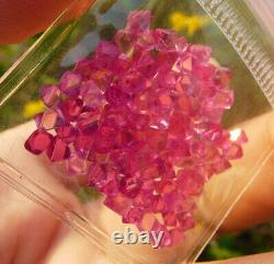 Myanmar Mansin Spinel Clean Rough Crystal Bipyramidal Vivid Pink 20ct 92piece