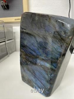 NEW LABRADORITE STANDING PIECE WITH LOVELY FLASH MINED IN MADAGASCAR 1.82kg (3)