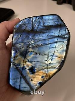 NEW LABRADORITE STANDING PIECE WITH LOVELY FLASH MINED IN MADAGASCAR 830g (10)