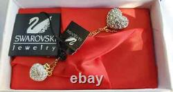 NOS Authentic Swarovski Signature Crystal Necklace Earring Brooch Lot 13 Pieces