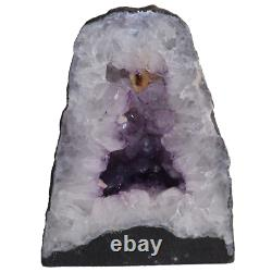 Natural Amethyst Crystal with Polished Face Cathedral Display Piece 26.6 lbs