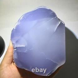 Natural Blue chalcedony Crystal Rough Polished Station piece Turkey 619gS230