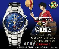 ONE PIECE ANIMATION 20th ANNIVERSARY LIMITED EDITION Watch Seiko Limited Used