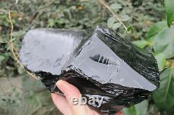 Obsidian crystal Tower Black Protection Glass Natural piece Mexico lava 2.329 K