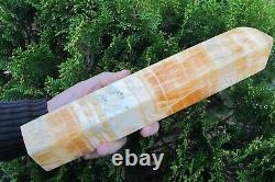 Orange Calcite Crystal Obelisk healing Natural Reiki Piece Statue large 2.2 K