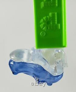 PEZ HIPPO TEST Piece Crystal Blue on Top of Head and Clear Crystal on Bottom