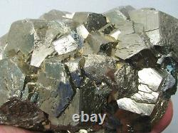 PYRITE BRILLIANT PENTADODECAHEDRAL CRYSTALS on MATRIX from PERU. MASTER PIECE