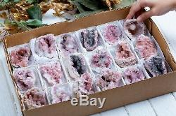 Pink Amethyst Geode Lot Of 18 Pieces From Neuquen Argentina