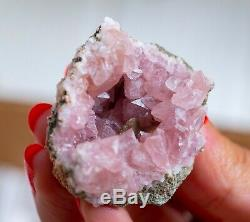 Pink Amethyst Geode Lot Of 54 Pieces From Neuquen Argentina