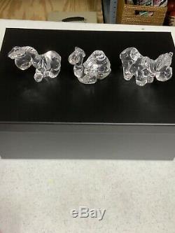Precious Moments Lead Crystal Nativity Complete ELEVEN PIECE Set