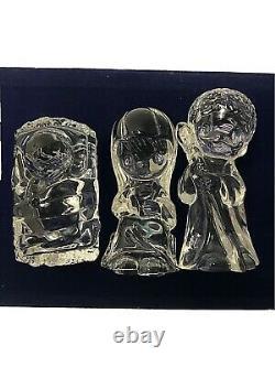 Precious Moments, Nativity, 24% Lead Crystal, 7 Piece Set, C. Butcher, 1990
