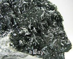 RARE HUTCHINSONITE METALLIC CRYSTALS on BLACK MATRIX from PERU. GORGEOUS PIECE
