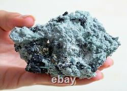 RICH GREEN CHLORITE QUARTZ CRYSTALS With GALENA, PYRITE SPECIMENS LOT OF 6 PIECES