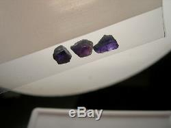 Rare ALEXANDRITE rough 1.60ct 3 piece gemmy Brazil gem Color Change Green Purple