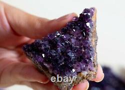 Rare! Amethyst Specimens Lot Of 18 Pieces From Alacam Mine, Turkey