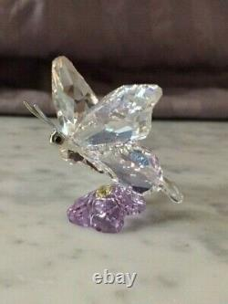 Retired Swarovski Crystal Butterfly/Purple Flower SCS Event Piece 2013 1142859