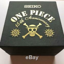 SEIKO ONE PIECE Watch 15th Anniversary Limited Luffy Chronograph Quartz Rare EX