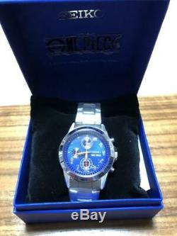 SEIKO ONE PIECE Watch 20th Anniversary Limited Luffy Chronograph Quartz Blue NEW
