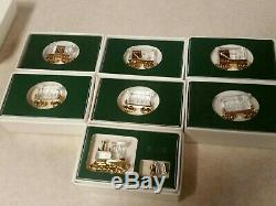 SWAROVSKI Faceted Crystal Memories Train Set Miniature 8 Pieces