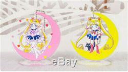 Sailor Moon Standing Acrylic Holder Keychain Cute Cartoon Crystal 13 pieces Set