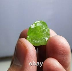 Small sized Gemmy peridot rough with nice crystallization in most pieces 620 g