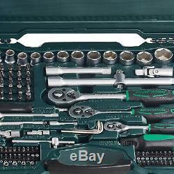 Socket Set 215-Piece Tools Mannesmann M98430 Vanadium Steel Chrome Matt Finish