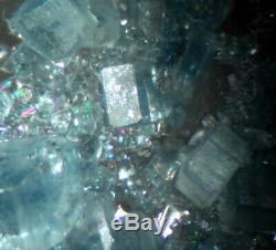 Sparkling apatite on quartz museum piece