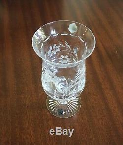 Stuart Crystal Hurricane Lamp Candle Holder 2 Piece (new) Nib. Made In GB