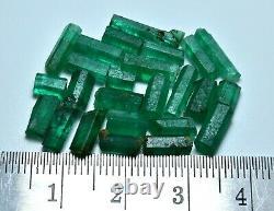Superb Green Color Rough Natural Emerald Crystal Lot (25 Pieces)19 Carat