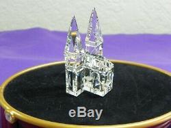 Swarovski 8 Piece Silver Crystal City House Set 1&2, Cathedral, Poplar Trees