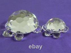 Swarovski Crystal 2 Piece Large Turtle & Small Turtle 7632-045 & 030