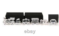Swarovski Crystal 7471 6 Piece Train Set with Boxes