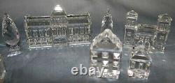 Swarovski Crystal 7474 SILVER CITY Buildings Collection w Trees MIB 11 Piece Set