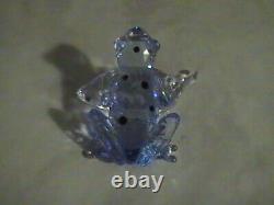 Swarovski Crystal Blue Dart Frog Event Piece Signed, Mint
