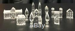 Swarovski Crystal City Set 11 Piece Lot Castle Church Cathedral House Trees Hall