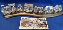Swarovski Crystal Complete Train Set with Wooden Track 7 pieces W COA
