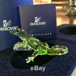 Swarovski Crystal Figurine SCS Green Gecko Event Piece 2008 905541 NIB WithCOA