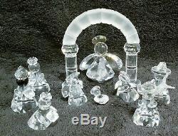Swarovski Crystal Figurines 11 Piece Fab Crystal Nativity Set Wonderful Lot