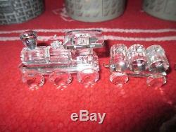 Swarovski Crystal Five Piece Train LOT- Tanker, Locomotive, Petrol, Tender Car