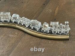 Swarovski Crystal Locomotive Seven Piece Train Set Original Track