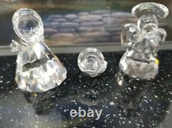 Swarovski Crystal Lot of 8 Figures 11 Piece Set Nativity Scene Minor Damage
