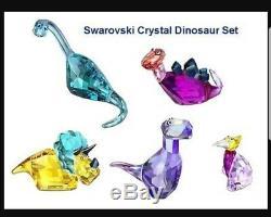 Swarovski Crystal Lovlots Dinosaurs 6 piece set nib