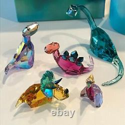 Swarovski Crystal Lovlots Dinosaurs (Five Piece Set) Mint